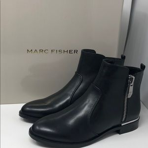 Marc Fisher black leather booties new Authentic